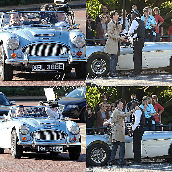 28.10 - Louis à été en tournant une scène du prochain clip Night Changes à Londres.