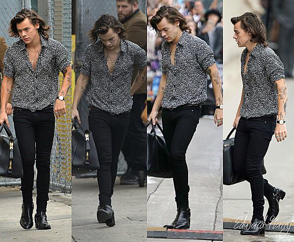20.11 - Les One Direction ont été vue en arrivant à l'émission de Jimmy Kimmel pour une interview à Los Angeles.
