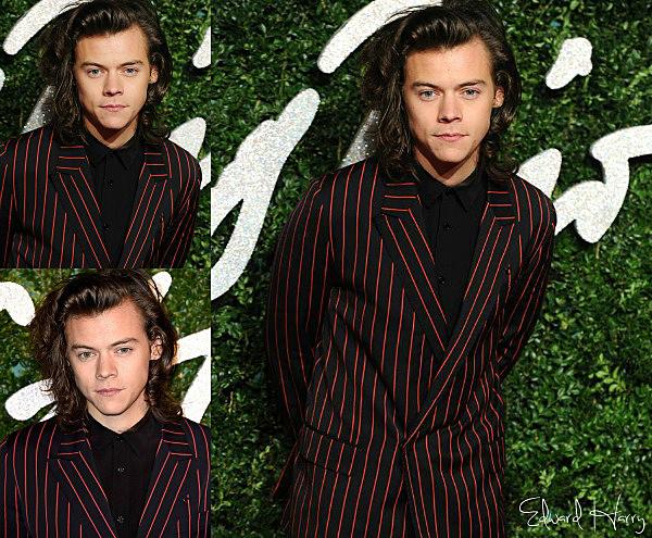 01.12 - Harry à été à la British Fashion Awards 2014.