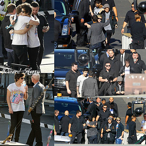 Flash-Back - 20.12.2012 - Les One Direction ont été en arrivant au studio à LA.