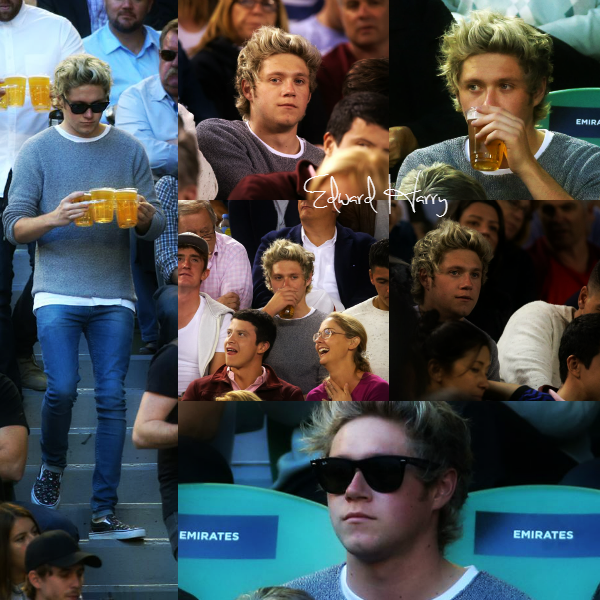 30.01 - Niall à été vue à un match à l'Open d'Australie, à Melbourne.