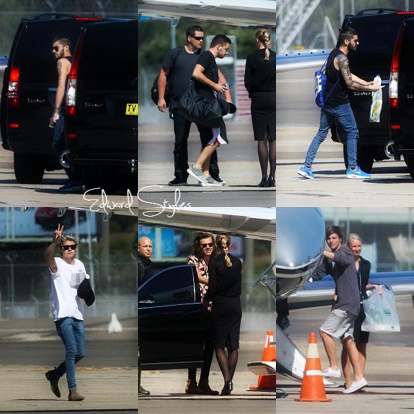11.02 - Les One Direction ont été vus en arrivant à l'aéroport de Sydney.