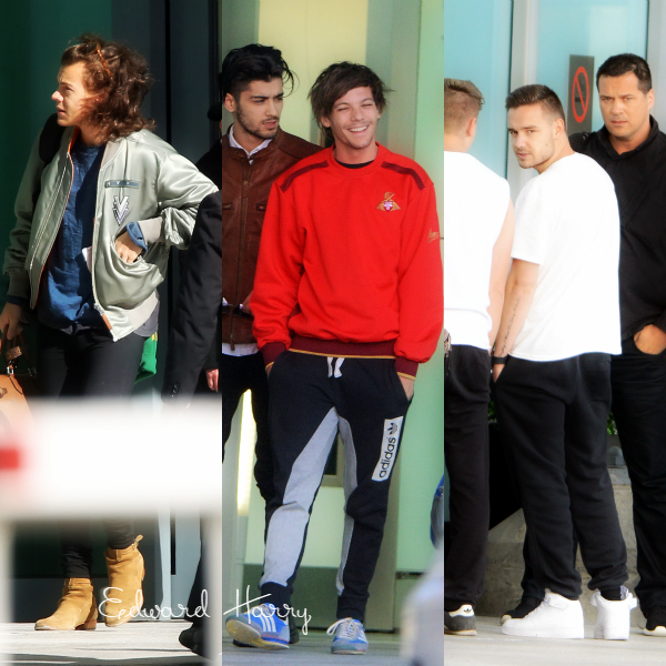 03.03 - Les One Direction ont été vus en arrivant à l'aéroport de Heathrow à Londres.