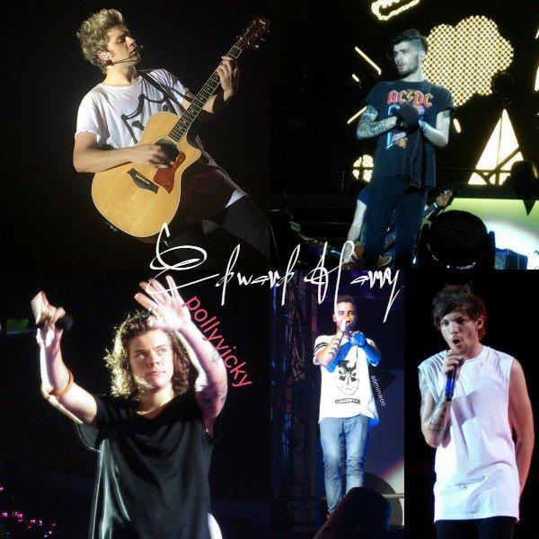 14.03 - les One Direction interprétant leurs quatorzième concert pour tournée le On The Road Again à Bangkok.