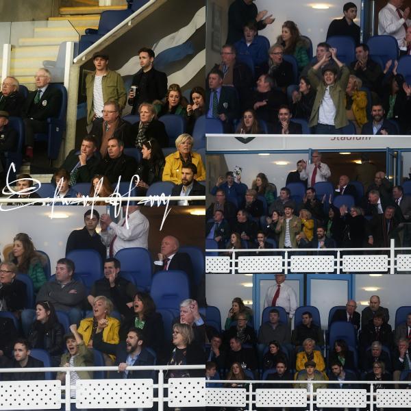 05.04 - Niall à été vue au match de rugby au Madejski Stadium de Reading.