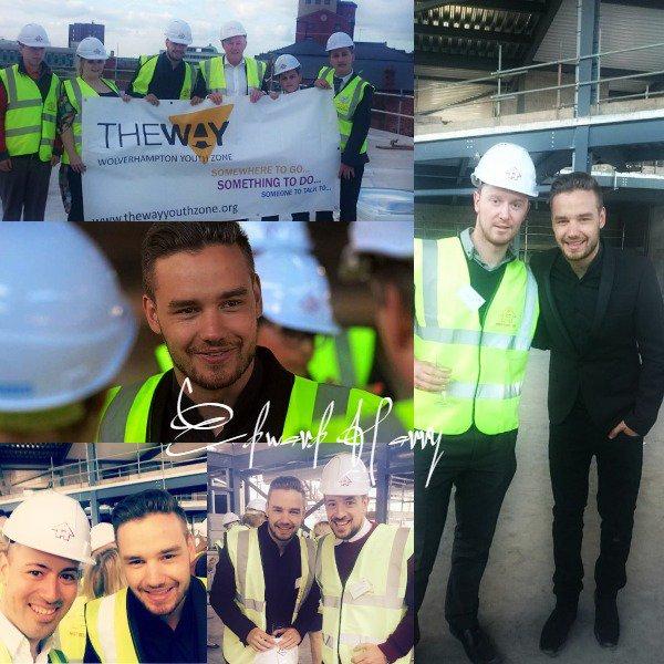 22.04 -  Liam est allait à la célébration sur le site de la nouvelle Zone jeunesse de Wolverhampton.