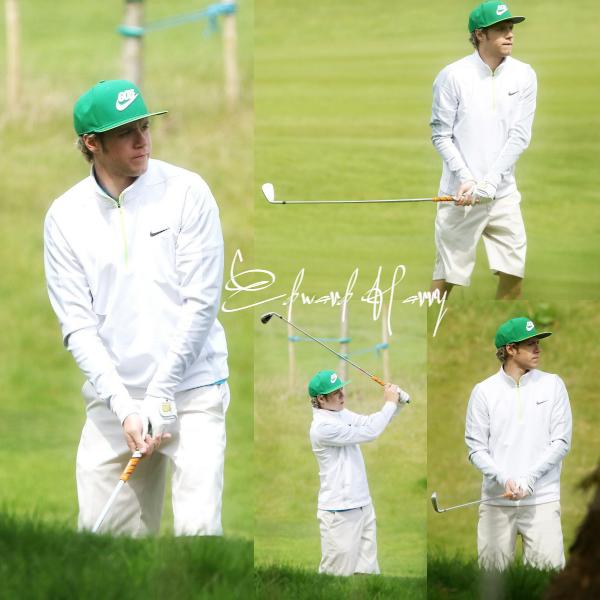 26.04 - Niall à été vue faisant du Golf.
