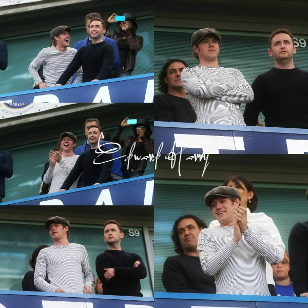 03.05 - Niall et son cousin ont été vus au maths de foot Stamford Bridge à Londres.