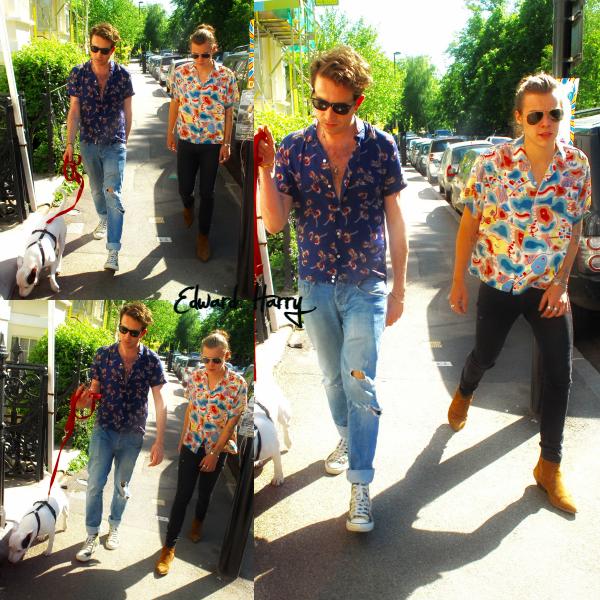 04.06 - Harry et Nick Grimshaw ont été vus dans Londres.
