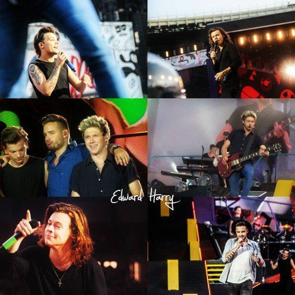 10.06 - Les One Direction interprétant leurs vingt-sixième concerts pour tournée le On The Road Again au stade de Vienne en Autriche.