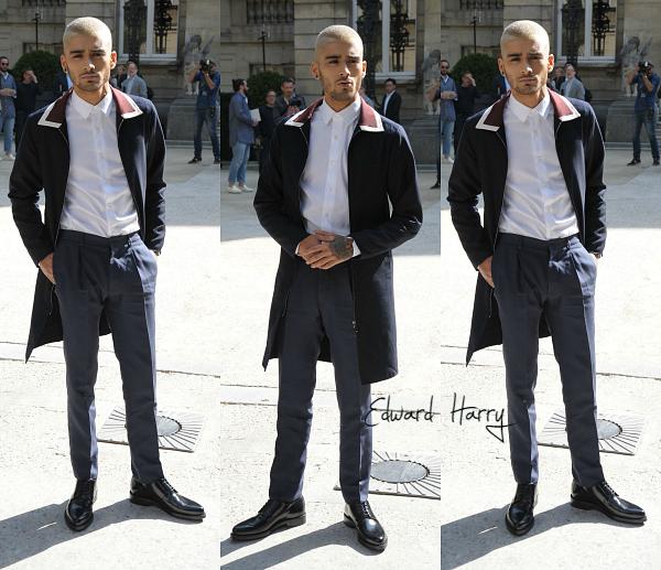 24.06 - Zayn est à Paris ! Il à été au défilé de Valentino.