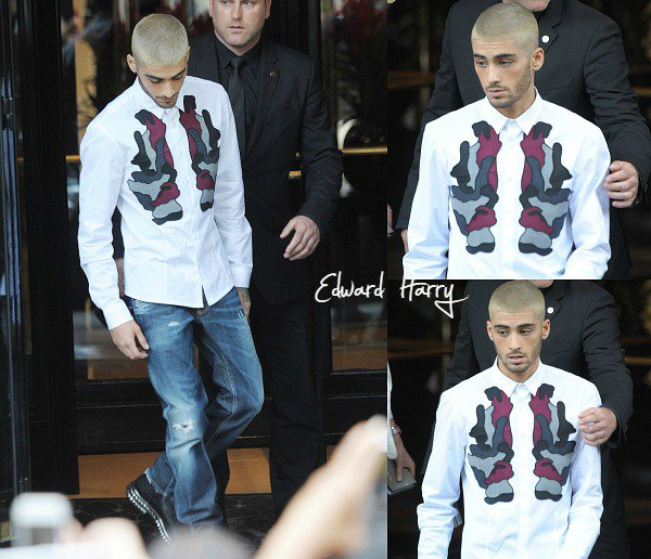 24.06 - Zayn à été vue quittant l'hôtel the George V à Paris.