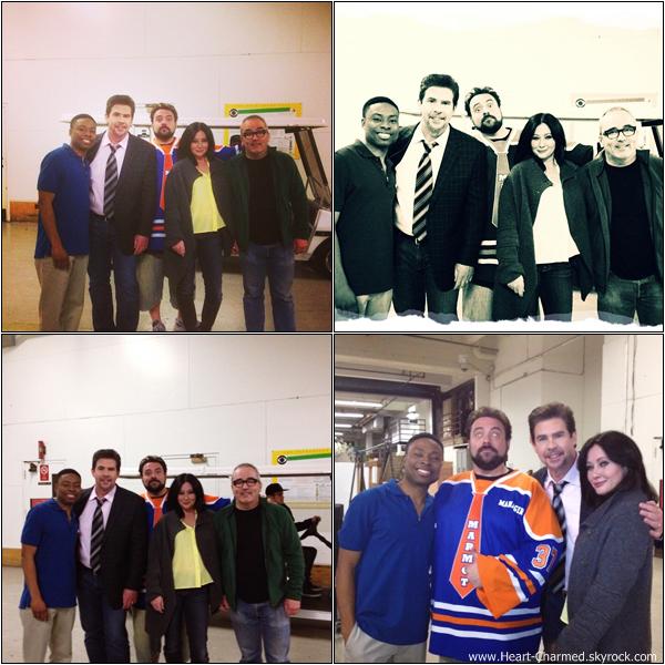 -     13/02/2013 : Shannen et ses co-stars de The Short-Coms Comedy Hour sur le tournage du pilot.  -