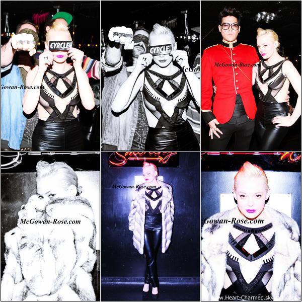 -     21/02/2013 : Rose accompagnée de son compagnon Davey Detail et de quelques amis à la boîte de nuit Chez André Pop Up At Mmhmmm à Los Angeles.  -