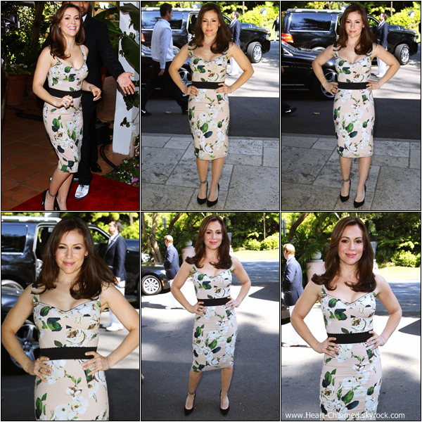 -     23/02/2013 : Alyssa au Montblanc And Unicef Host Pre-Oscar Brunch qui se déroulait à Los Angeles.  -