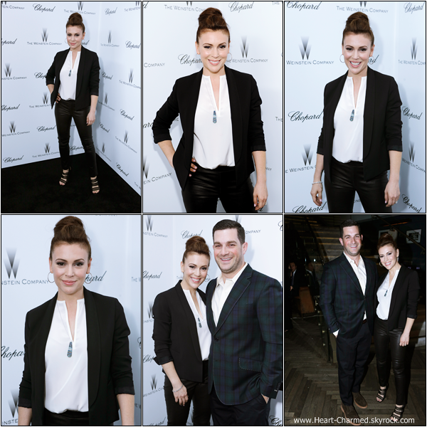 -     23/02/2013 : Alyssa à la The Weinstein Company Academy Award Party Hosted By Chopard qui se déroulait à Los Angeles.  -