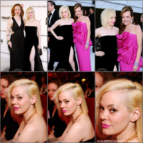 -     24/02/2013 : Rose à la 21st Annual Elton John Aids Foundation qui se déroulait dans West Hollywood.  -
