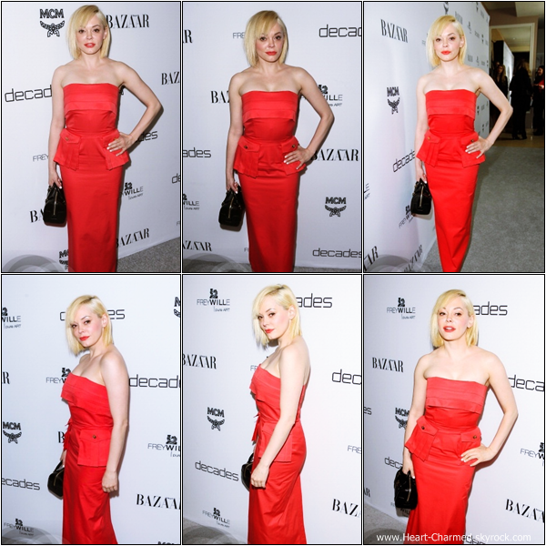 -     28/02/2013 : Rose à la soirée Harper's BAZAAR Celebrates Cameron Silver And Christos  qui se déroulait à West Hollywood.  -