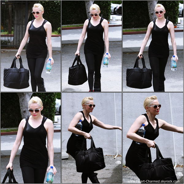 -    08/04/2013 : Rose se rendant à la gym à Los Angeles.  -