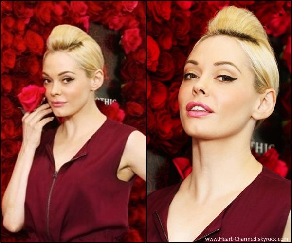 -    24/04/2013 : Rose assistant au déjeuner du rosé Apothic à New-York.  -