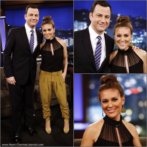 -    22/05/2013 : Alyssa assistant à l'émission Jimmy Kimmel Live.  -