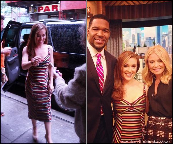 -    02/06/2013 : Alyssa sur le plateau de l'émission Live with Kelly and Michael pour promouvoir Mistresses.  -