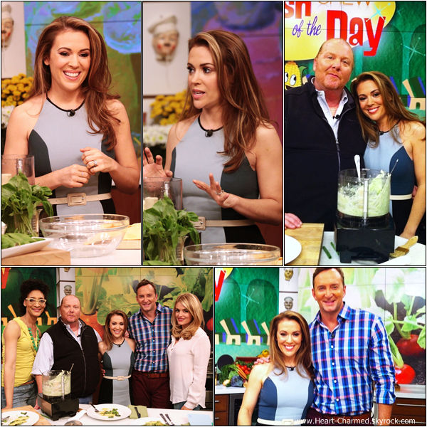 -    10/06/2013 : Alyssa sur le plateau de l'émission The Chew.  -