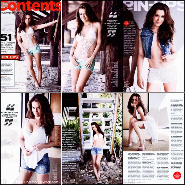 -    Maxim : Découvrez les scans du magazine Maxim dont Alyssa fait la couverture pour le mois de Juillet/Août 2013.  -