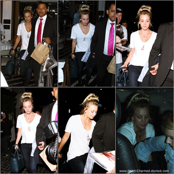 -    10/07/2013 : Kaley et deux amies arrivant au restaurant Cecconi's dans West Hollywood.  -