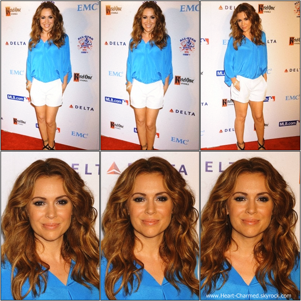-    14/07/2013 : Alyssa assistant à la soirée Major League Baseball's All Star Bash à New-York.  -