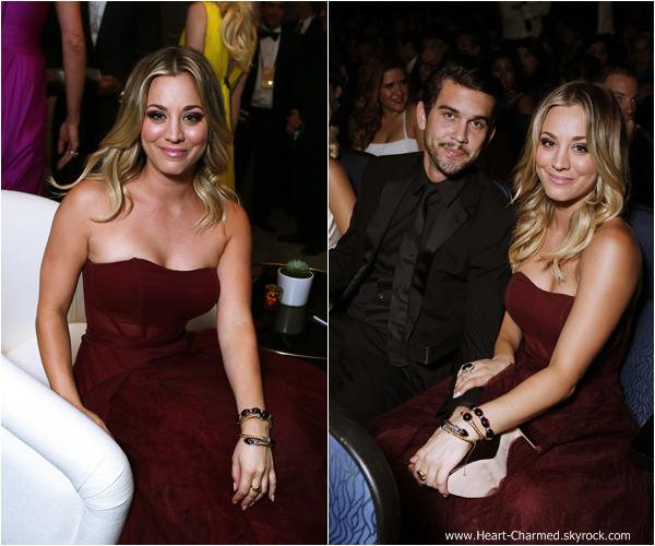 -    22/09/2013 : Kaley et son fiancé Ryan Sweeting assistant au 65th Annual Primetime Emmy Award à Los Angeles.  -