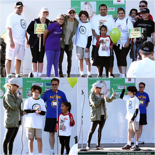 -    29/09/2013 : Kaley et son fiancé Ryan Sweeting assistant au The 2013 Walk and Roll Charity Event à Los Angeles.  -