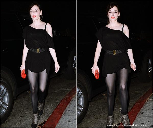 -    02/10/2013 : Rose se rendant à un dîner au Château Marmont à Los Angeles.  -