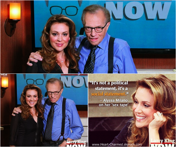 -    23/09/2013 : Alyssa sur le plateau de l'émission Larry King Show à New-York.  -