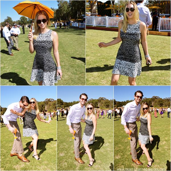 -    05/10/2013 : Kaley et son fiancé Ryan Sweeting assistant au 2013 Veuve Clicquot Polo Classic Los Angeles dans Pacific Palisades.  -
