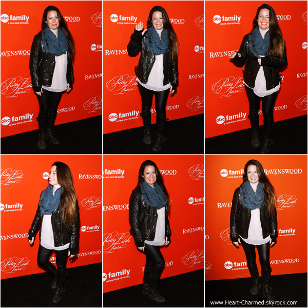 -    15/10/2013 : Holly assistant à la projection de l'épisode spécial Halloween de la série Pretty Little Liars à Los Angeles.  -