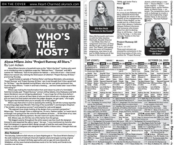 -    Weekly TV : Découvrez Alyssa en couverture du magazine Weekly TV.  -
