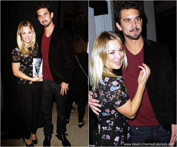 -    27/10/2013 : Kaley et son fiancé Ryan Sweeting assistant à l'évènement The Amanda Foundation à Beverly Hills.  -