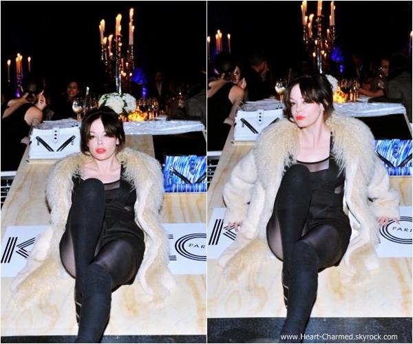-    30/10/2013 : Rose assistant à un dîner organisé par la marque Kenzo à Los Angeles.  -