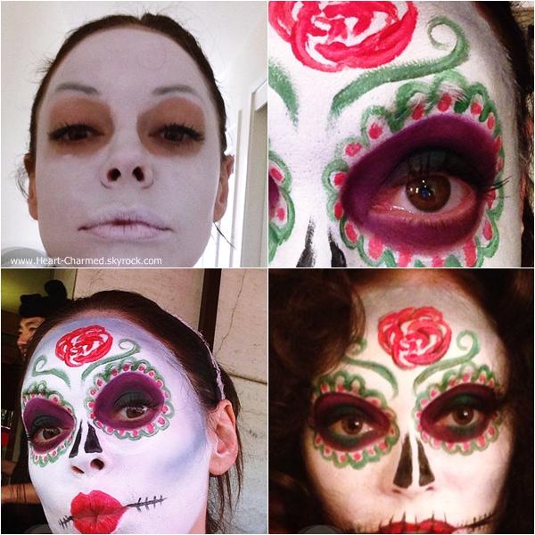 -    31/10/2013 : Découvrez le maquillage que portait Rose cette année pour Halloween.  -