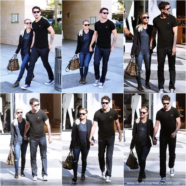 -    11/11/2013 : Kaley et son fiancé Ryan Sweeting quittant un restaurant à Beverly Hills.  -
