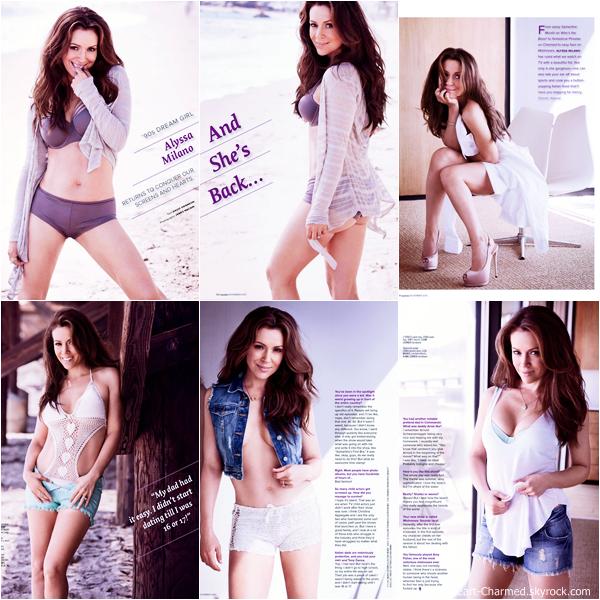 -    Maxim Magazine : Découvrez Alyssa dans le magazine indien Maxim pour l'édition de Novembre 2013.  -