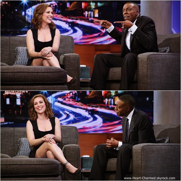 -    04/12/2013 : Alyssa sur le plateau de l'émission Arsenio Hall Show  à New-York.  -