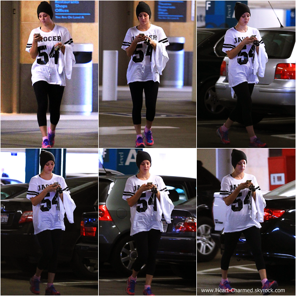 -    23/12/2013 : Kaley quittant son cours de gym dans Sherman Oaks.  -