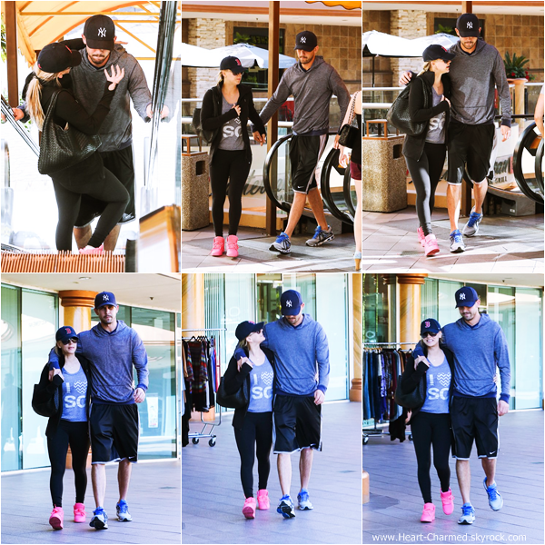 -    28/12/2013 : Kaley et son fiancé Ryan Sweeting quittant un cours de sport dans West Hollywood.  -