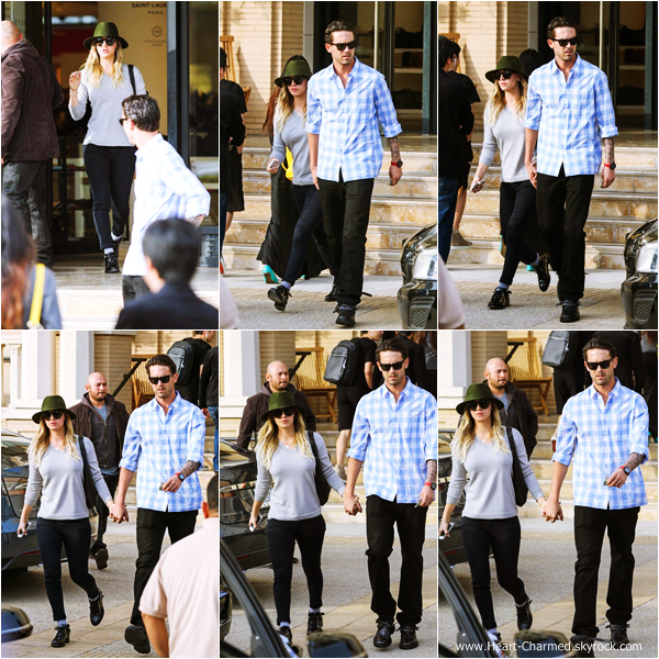 -    03/01/2014 : Kaley et son mari Ryan Sweeting faisant du shopping à Beverly Hills.  -