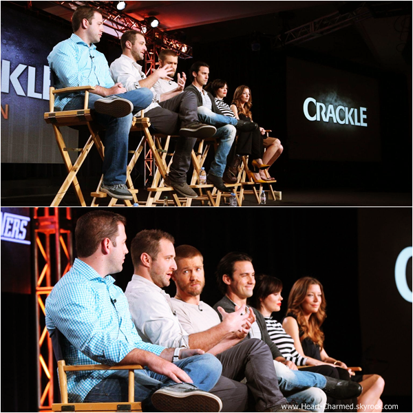 -    12/01/2014 : Rose assistant au Crackle TCA Presentation à Pasadena.  -