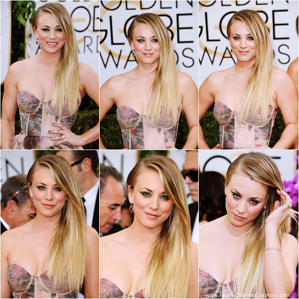 -    12/01/2014 : Kaley assistant à la cérémonie des 2014 Golden Globe Awards à Beverly Hills.  -