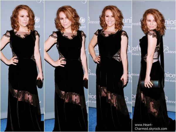 -    14/01/2014 : Alyssa et son mari David Bugliari assistant à la soirée The Unicef Ball à Los Angeles.  -