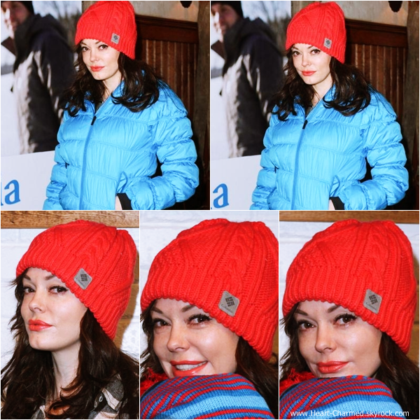 -    17/01/2014 : Rose faisant un arrêt à la boutique Columbia SportSwear Lounge à Park City.  -